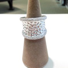 Sterling silver band #jewelry #ring #sterling #silver