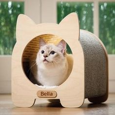 Wooden Cat House, Toy Basket, Wood Cat, Cat Scratcher, Cat Condo, Buy Pets, Pet Furniture, Buy A Cat, Litter Box
