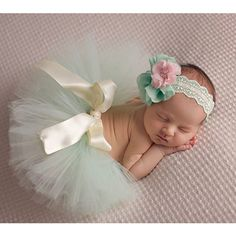Newborn Baby Girl Flower Headband + Tutu Skirt Costume Photography Prop Outfits #UnbrandedGeneric