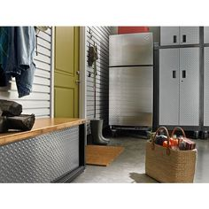The best garage refrigerator is the one that's designed with your life in mind. Gladiator® garage refrigerator models offer a bold look and innovative features. Storage Cabinets, Storage Shelves, Storage Spaces, Tall Cabinet Storage, Garage Shelving, Garage Storage, Pantry Storage, Gladiator Storage, Buy A Garage
