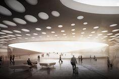 Gallery of wall designs new paveletskaya transit hub for moscow