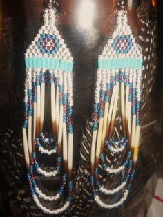 Bring a Blush to the Snow Native Beaded Earrings by blushinglakes, $26.00