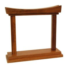 """Rosewood Gong Stand - for 4"""" Gongs"""