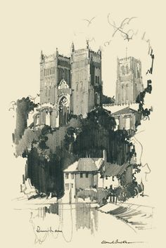 Claude buckles sketch of durham cathedral