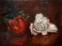 Two Roses   Öl_Lwd.40x30cm Two Roses, Flowers, Painting, Art, S Pic, Pictures, Painting Art, Paintings, Kunst