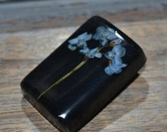 Real Forget Me Not Flower Resin Brooch