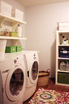 "I don't have a laundry ""room"" I have a space...but if I had a ""room,"" it would look like this. :D"