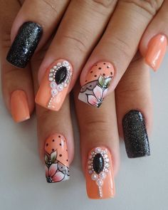 How to succeed in your manicure? - My Nails Toe Nail Art, Toe Nails, Acrylic Nails, Summer Pedicure Colors, Classic Nails, Crystal Nails, Toe Nail Designs, Orange Nails, Nail Decorations
