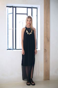 Florence dress with spade necklace