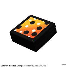 Dots On Blended OrangeToYellow Trinket Box