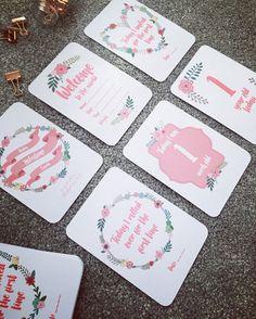Bloom Baby Girls Milestone Cards