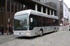 Hydogen fuel-cell bus in Bolzano, Italy