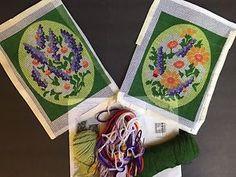 Lot of 2 Vintage Floral Needlepoint Kits Bucilla Lavender Bouquet Meadow Flowers  | eBay