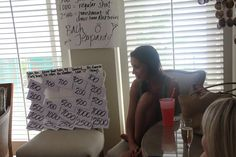 Hen party home made Jeopardy & Scattergories games - great ideas! from Posh Meets Pavement
