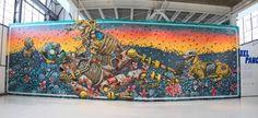 PixelPancho || Mural at Chopo Museum, Mexico DF, 2013