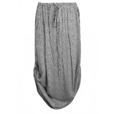 MAXI SKIRT WITH SIDE TABS IN STRIPE ($20) ❤ liked on Polyvore