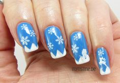 Winter Scene Nails mit Wintry Blue (P2, Snow Kissed!)