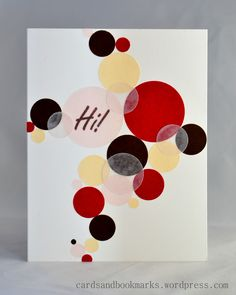 sweet card with vellum