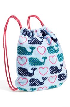 Capelli of New York Seahorse Print Towel Backpack (Girls) available at #Nordstrom