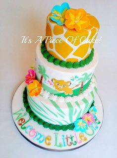 Lion Cub Themed Baby Shower Cake Lion King