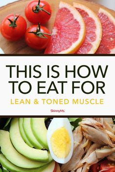 Learning how to eat for lean and toned muscle is a lot like learning how to eat for fat loss, it just places more emphasis on carbohydrates and timing! Weight Loss Meals, Diet Plans To Lose Weight Fast, Losing Weight, Reduce Weight, Low Fat Diets, Easy Diets, Low Carb Diet, Cholesterol Diet, Calorie Diet