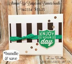 Stampin'Up! Badges and Banners bundle, bundle and save 10%, Lisa Pretto, inkbigacademystamps.com, shop at lisapretto.stampinup.net