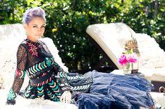 Fashion Editorial:Nicole Richie in Valntino dress forPaper Magazine.