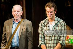 Actos Jonathan Hogan and Timothy Olyphant pose during the 'Hold On To Me Darling' opening night curtain call at The Linda Gross Theater on March 2016 in New York City. Raylan Givens, Walton Goggins, Timothy Olyphant, Curtain Call, Man Crush, Hold On, Men Casual, Opening Night, Poses