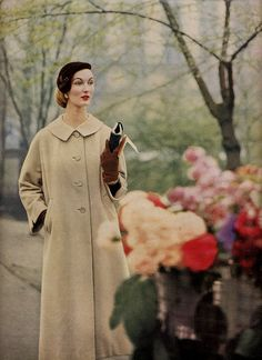 beige coat by Millie Motts, via Flickr  #Evelyn Tripp Vintage #Fashion