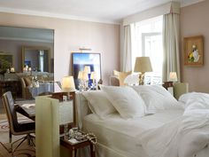 Room at the Royal Monceau, Paris. If you want to see the powerful and beautiful people
