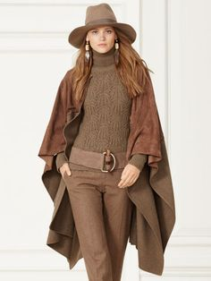 Collection Apparel Cape Fillmore pan en daim - Collection Apparel Vestes & Manteaux  - Ralph Lauren France