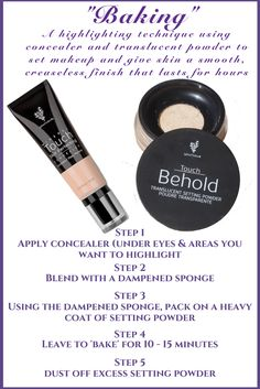 Touch Mineral Skin Perfecting Concealer & Touch Behold Translucent Setting Powder Simple steps for a flawless, poreless, matte finish