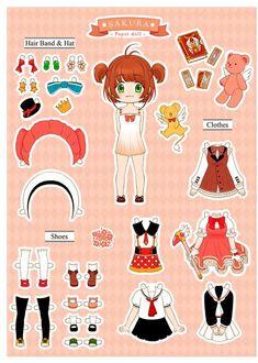 Sakura Paper Doll by ispan0w0.devianta... on @DeviantArt