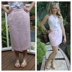 Devon Alana Design: Seersucker Skirt Re-Fashion DIY