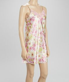 Love this Pink Blossom Chemise - Women by Kathryn on #zulily! #zulilyfinds
