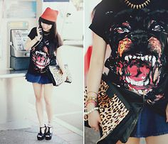 Givenchy Inspired Rottweiler Tee, Spiked T Bar Heels - Rottweiler - Willabelle Ong