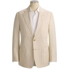 Haspel Herringbone Sport Coat - Hemp-Cotton (For Men) in Stone