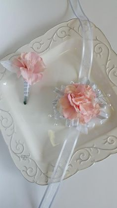 Check out this item in my Etsy shop https://www.etsy.com/listing/385966608/blush-pink-and-silver-wrist-corsage-and