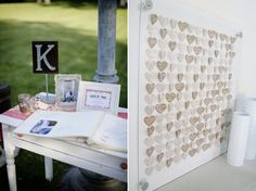 Wedding Guest Books (I love the idea of the hearts! It could be something we frame)