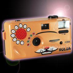 Holga K205 K-205 135 Format 35mm Cat Film Toy Camera Meow Sounds Flash LED LOMO #Holga