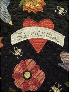 ❤ =^..^= ❤   Quilt Inspiration: Trends and Traditions: Arizona Quilters' Guild Show 2013 | Le Jardin by Denise St. Sauveur, detail