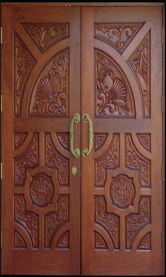 Wooden Door Design – Home Inspiration Main Entrance Door Design, Wooden Front Door Design, Double Door Design, Entrance Doors, Wooden Double Doors, Double Entry Doors, Wooden Front Doors, Unique Front Doors, Exterior Doors