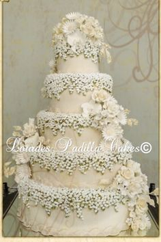 Exquisite Lilly of the Valley Wedding Cake