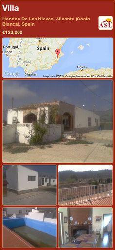 Villa in Hondon De Las Nieves, Alicante (Costa Blanca), Spain ►€123,000 #PropertyForSaleInSpain