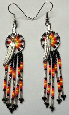 Native American Dream Catchers | Native American Dreamcatcher Beaded Earrings by AlphaMelsBeadwork, $17 ...