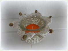 Dessertglas im Haekelmantel
