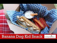 Banana Dog Healthy Kid Snack {Fun Food Idea} | Living Locurto