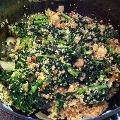 Kale and Quinoa with Creole Seasoning Allrecipes.com