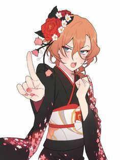 Chuuya~ how can you look prettier than most girls? XD