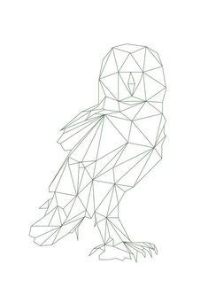 Geometric drawing, geometric designs, geometrisches tier, bird line drawing, Geometric Drawing, Geometric Designs, Geometric Shapes, Geometric Animal, White Bird Tattoos, Animals Tattoo, Animals Black And White, Posca Art, Origami Bird